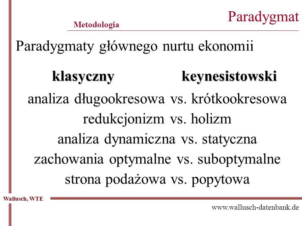 Paradygmat ____________________________________________________________________________________________ Metodologia Wallusch, WTE www.wallusch-datenba