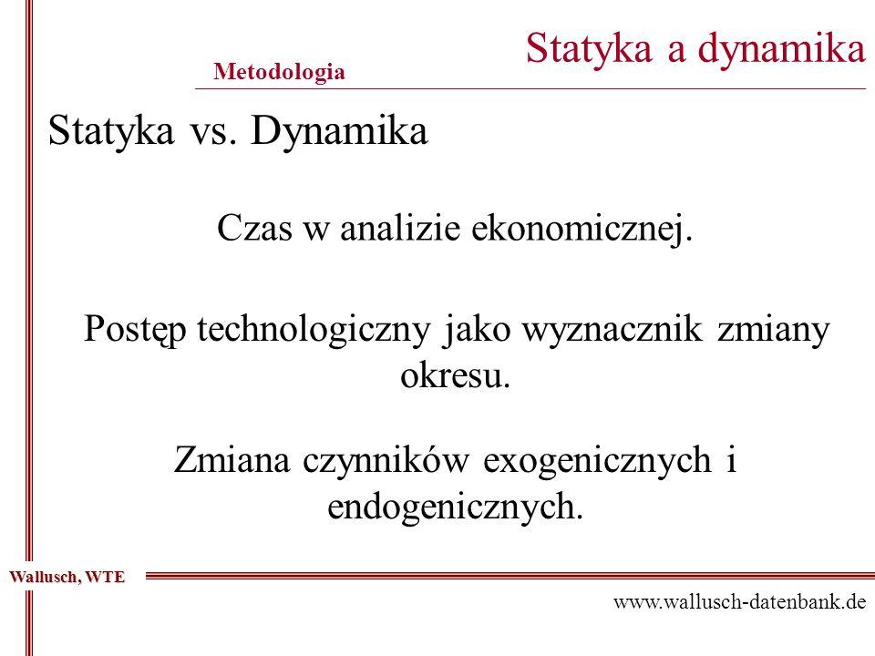 Statyka a dynamika ____________________________________________________________________________________________ Metodologia Wallusch, WTE www.wallusch