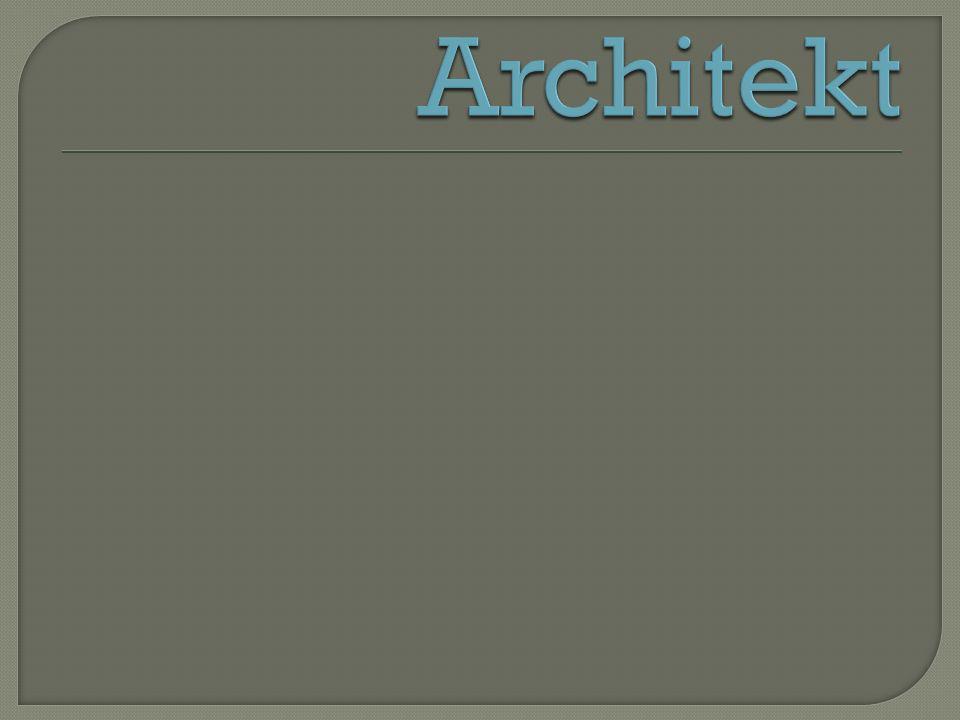 Architekt - przedstawiciel zawodu polegaj ą cego na realizacji na zlecenie zamawiaj ą cego obiektów architektury.architektury Okre ś lenie zawodu architekta wywodzi si ę z starogreckich s ł ów αρχη [arché] (= pocz ą tek, podstawa) oraz τεχνη [techné] = rzemios ł o, sztuka.