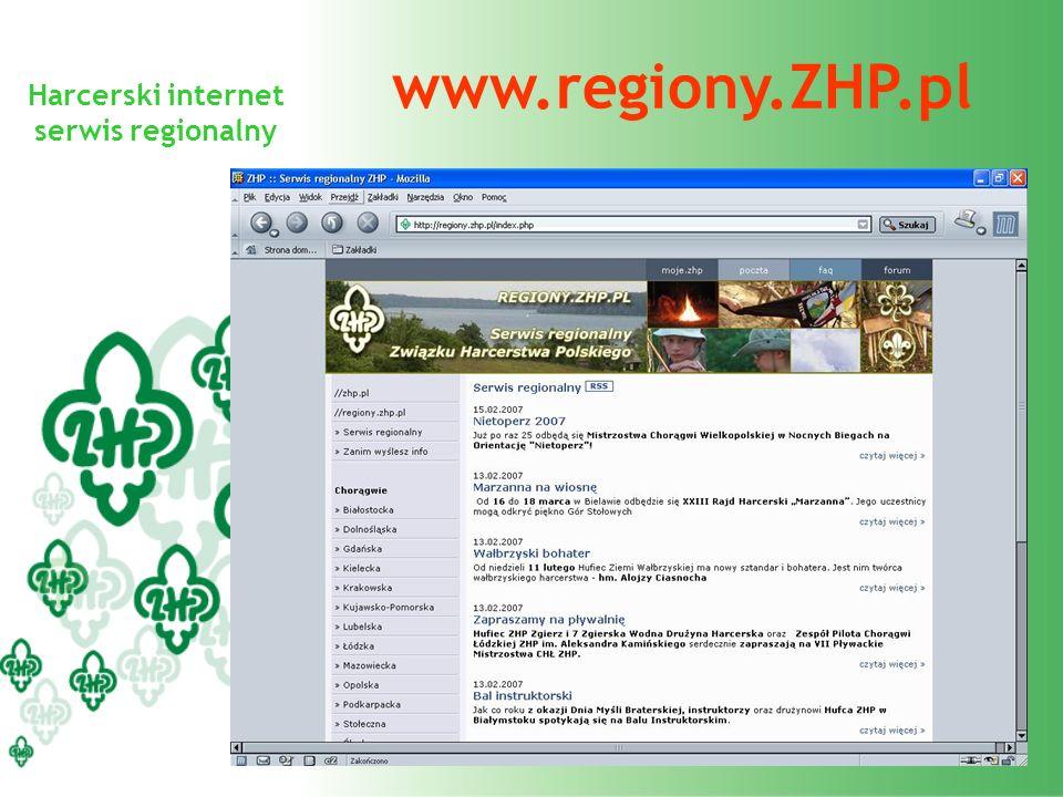 Harcerski internet serwis regionalny www.regiony.ZHP.pl