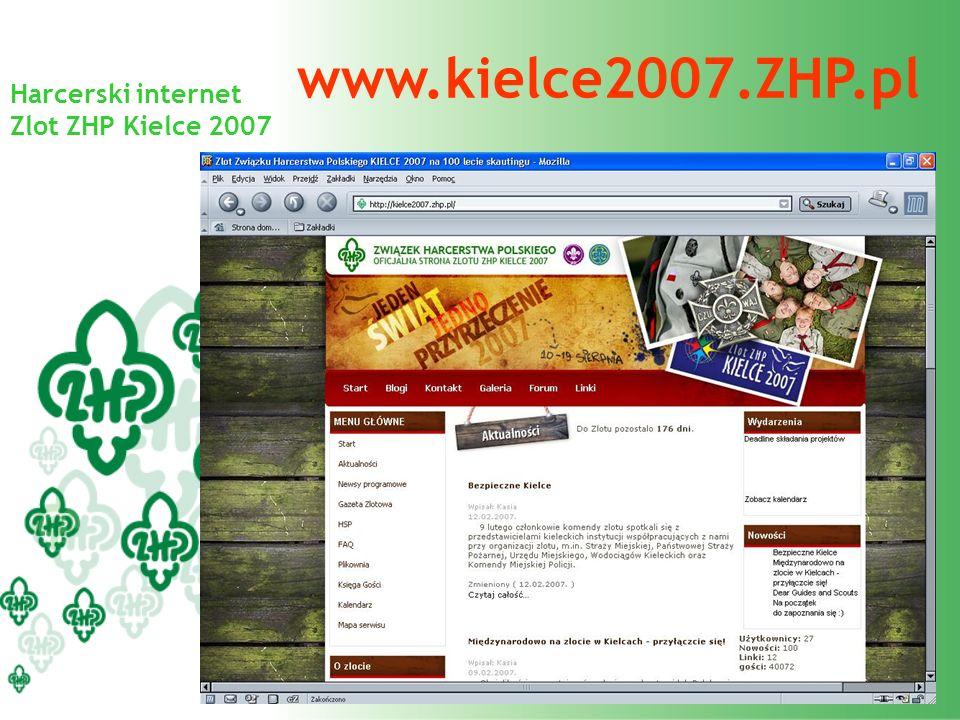 Harcerski internet Zlot ZHP Kielce 2007 www.kielce2007.ZHP.pl