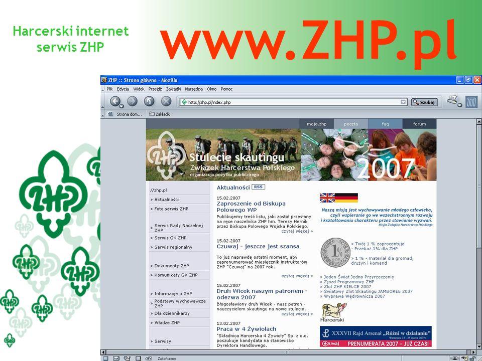 Harcerski internet serwis ZHP www.ZHP.pl