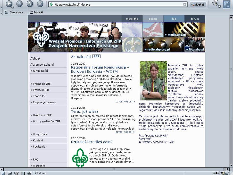 Harcerski internet serwis dla mediów www.media.ZHP.pl