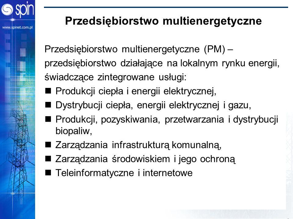 Power Bridge 2002 Przedsiębiorstwo multienergetyczne Przedsiębiorstwo multienergetyczne (PM) – przedsiębiorstwo działające na lokalnym rynku energii,