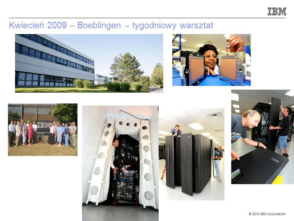 © 2010 IBM Corporation Kwiecień 2009 – Boeblingen – tygodniowy warsztat