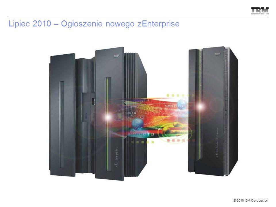 © 2010 IBM Corporation Lipiec 2010 – Ogłoszenie nowego zEnterprise
