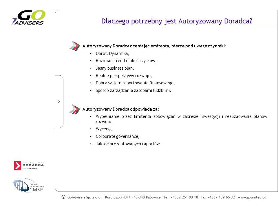 GoAdvisers Sp.z o.o. Kościuszki 43/7 40-048 Katowice tel.