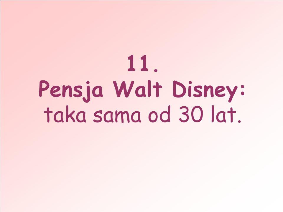 11. Pensja Walt Disney: taka sama od 30 lat.