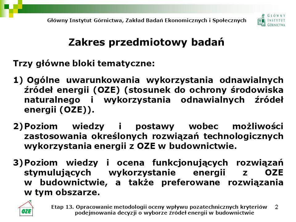 3 Z akres przestrzenny badań Prace prowadzone były w grupie interdyscyplinarnej.