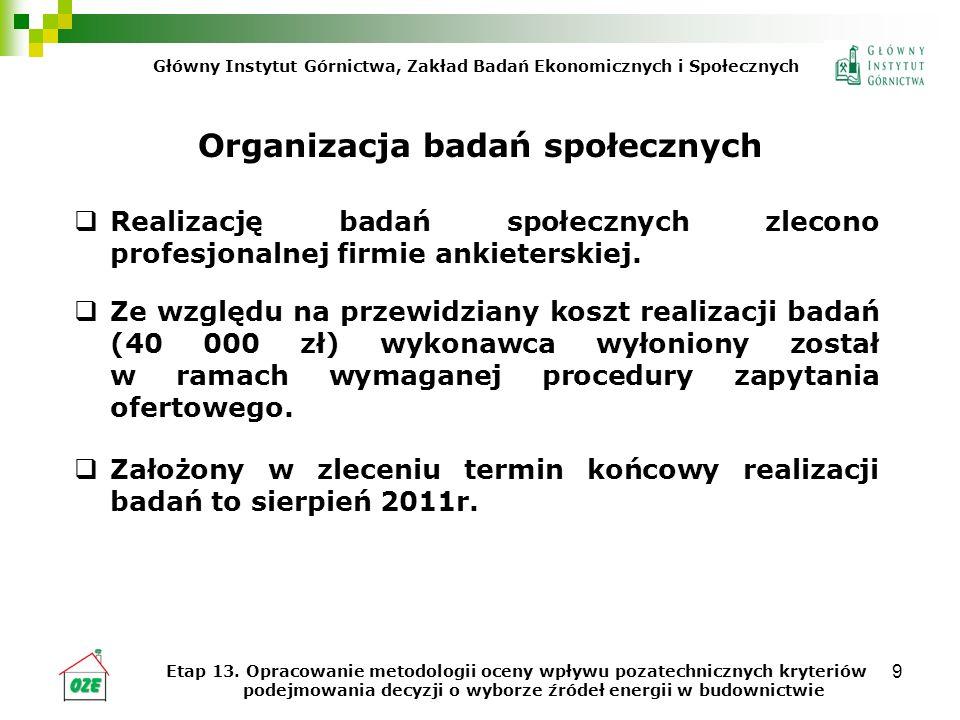 20 Wnioski i rekomendacje (c.d.) Wyniki badania z udziałem zarządzających budynkami użyteczności publicznej pokazały, że zastosowanie OZE nie jest powszechne.