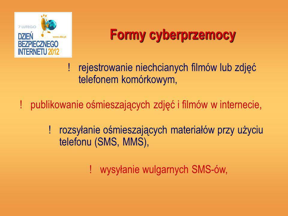 Formy cyberprzemocy !publikowanie ośmieszających zdjęć i filmów w internecie, .