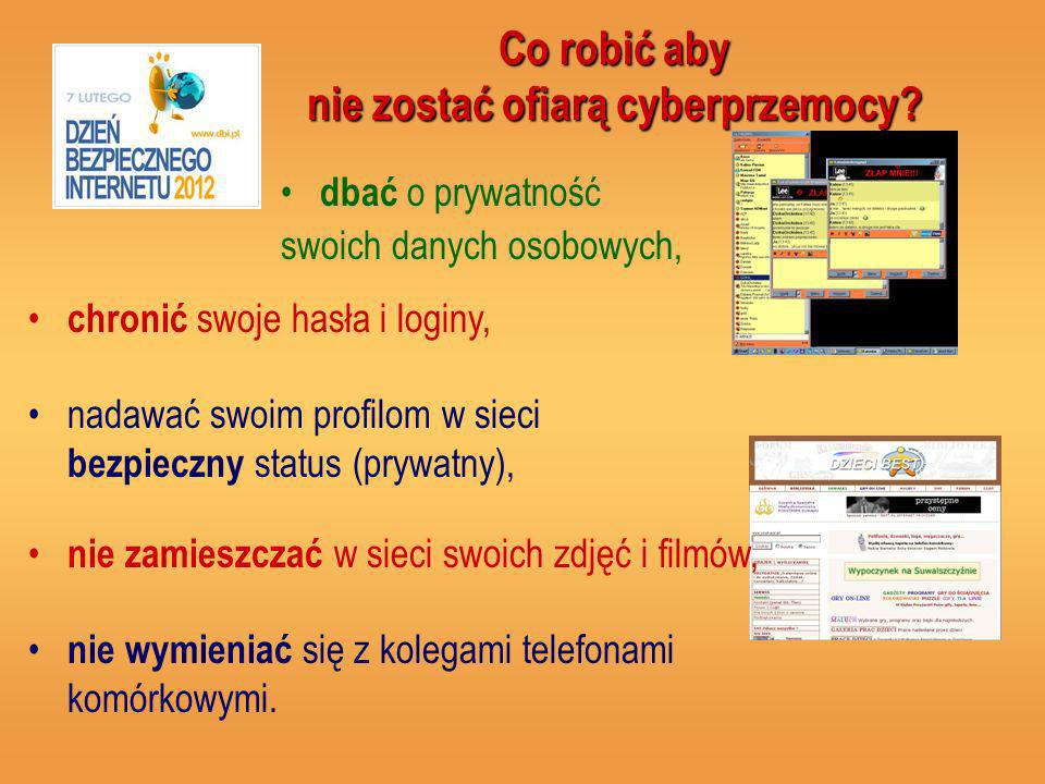Co robić aby nie zostać ofiarą cyberprzemocy.