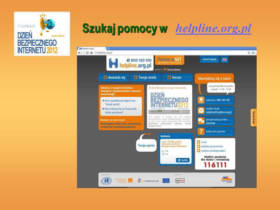 helpline.org.pl Szukaj pomocy w