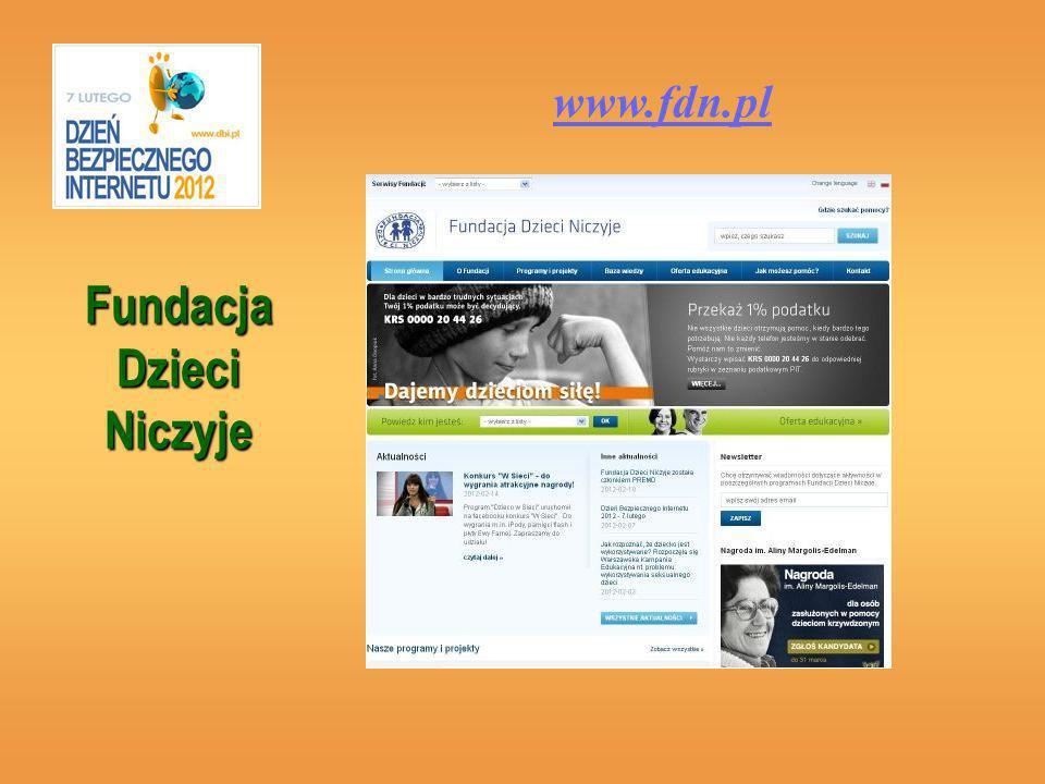 Fundacja Dzieci Niczyje www.fdn.pl