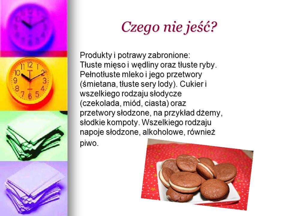 Zalecane produkty: Zalecane produkty: Warzywa i owoce niskokaloryczne.