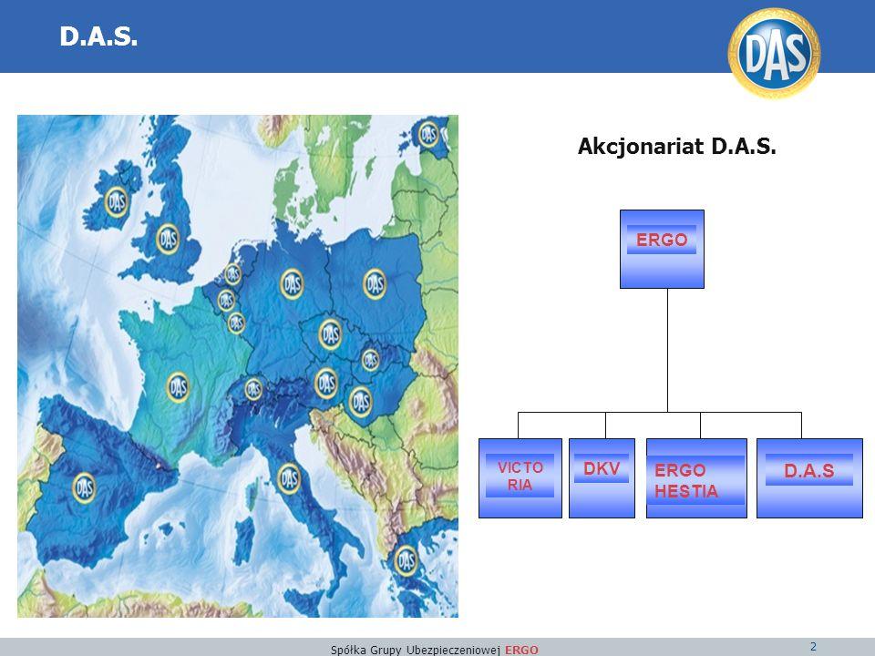 Spółka Grupy Ubezpieczeniowej ERGO 2 D.A.S. Akcjonariat D.A.S. ERGO D.A.S ERGO HESTIA DKV VICTO RIA