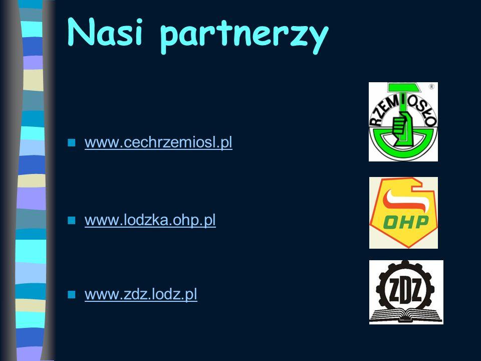 Nasi partnerzy www.cechrzemiosl.pl www.lodzka.ohp.pl www.zdz.lodz.pl