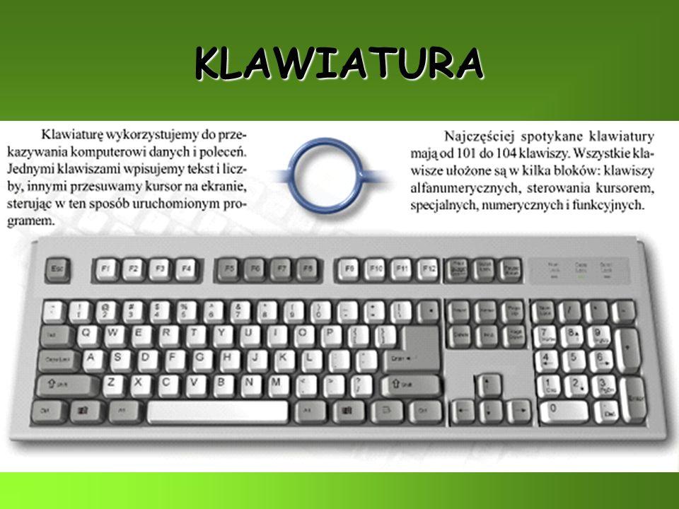 Jednostka centralna (komputer) zawiera w swojej obudowie najważniejsze elementy składowe, do niej podłączamy urządzenia peryferyjne