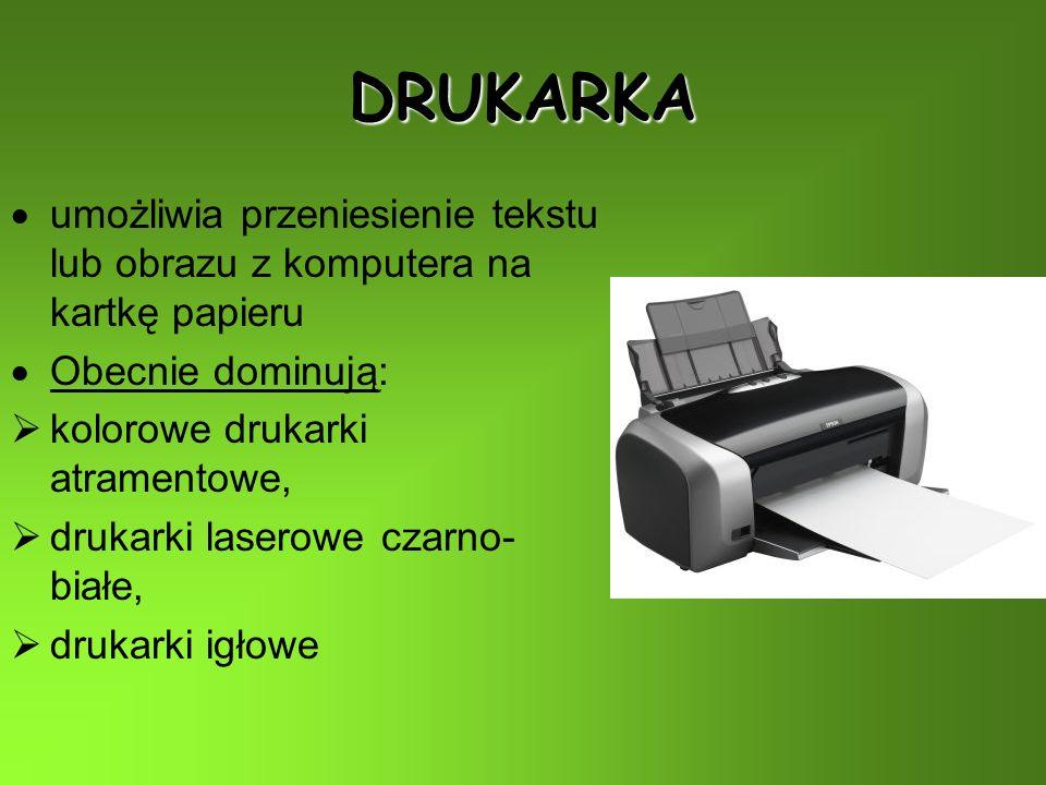 Urządzenia konieczneUrządzenia dodatkowe jednostka centralna klawiatura mysz monitor drukarka skaner ploter głośniki (słuchawki) kamera mikrofon joystick modem telefon faks (WE) (WE) (WY) (WE) (WY) (WE) (WE-WY)
