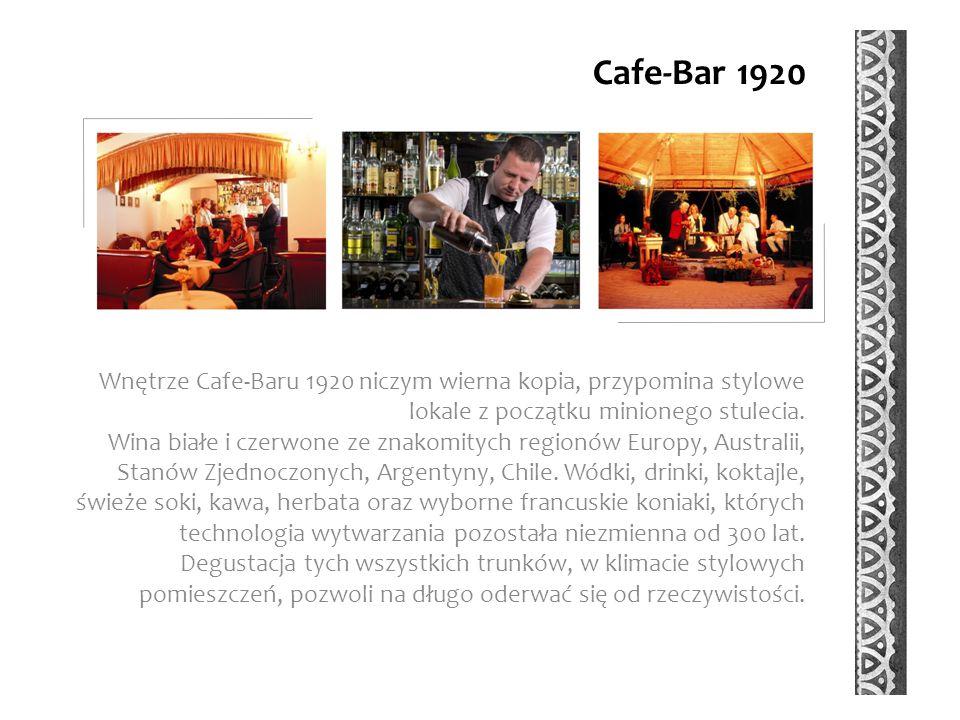Cafe-Bar 1920 Wnętrze Cafe-Baru 1920 niczym wierna kopia, przypomina stylowe lokale z początku minionego stulecia.