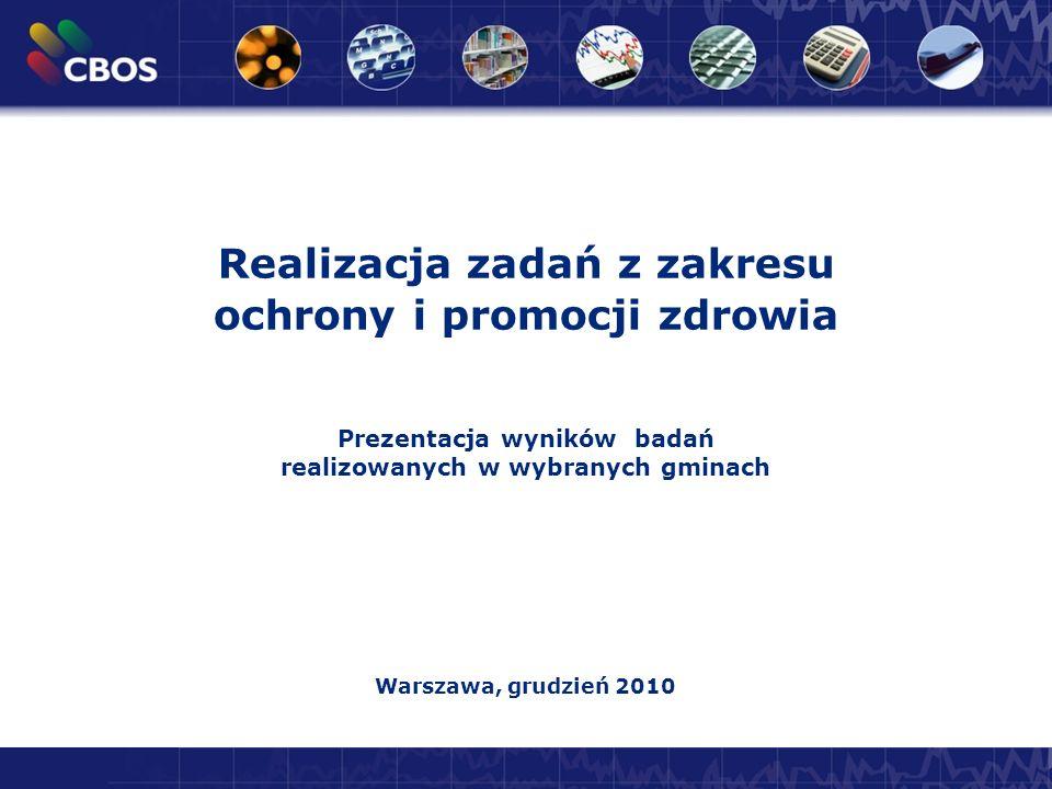 Attitude to European Union in Poland: Enthusiastic with Some Reservations 1 Realizacja zadań z zakresu ochrony i promocji zdrowia Prezentacja wyników