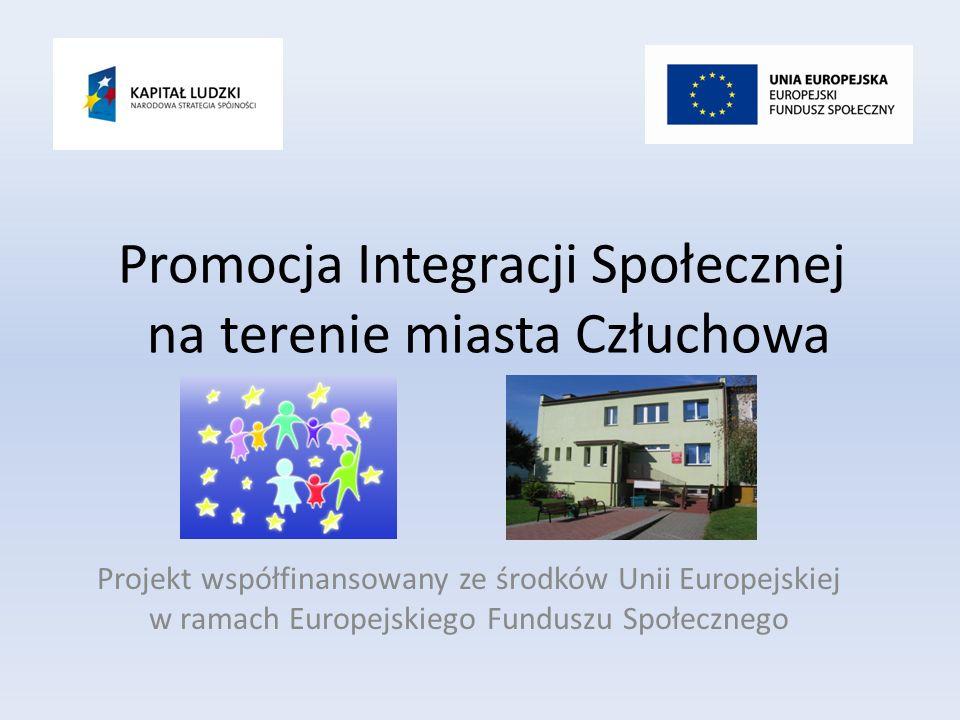 Promocja Integracji Społecznej na terenie miasta Człuchowa Projekt współfinansowany ze środków Unii Europejskiej w ramach Europejskiego Funduszu Społecznego
