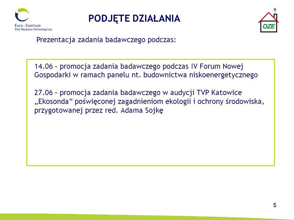 5 Prezentacja zadania badawczego podczas: 14.06 – promocja zadania badawczego podczas IV Forum Nowej Gospodarki w ramach panelu nt.