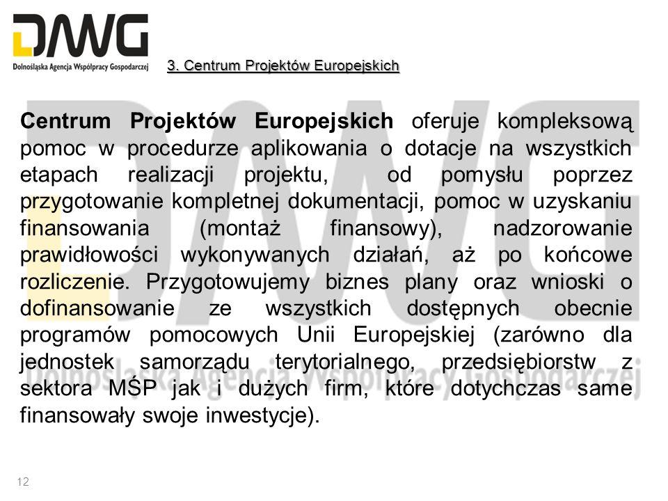 Centrum Projektów Europejskich oferuje kompleksową pomoc w procedurze aplikowania o dotacje na wszystkich etapach realizacji projektu, od pomysłu popr
