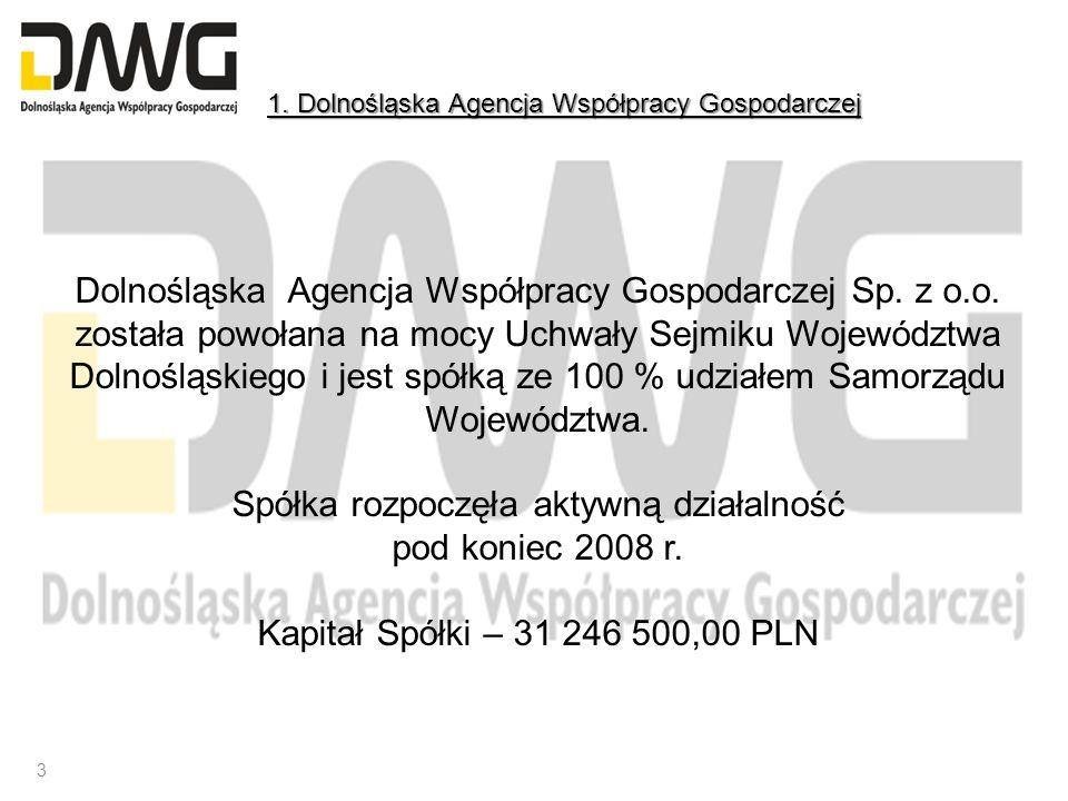 Dolnośląska Agencja Współpracy Gospodarczej Sp. z o.o. została powołana na mocy Uchwały Sejmiku Województwa Dolnośląskiego i jest spółką ze 100 % udzi