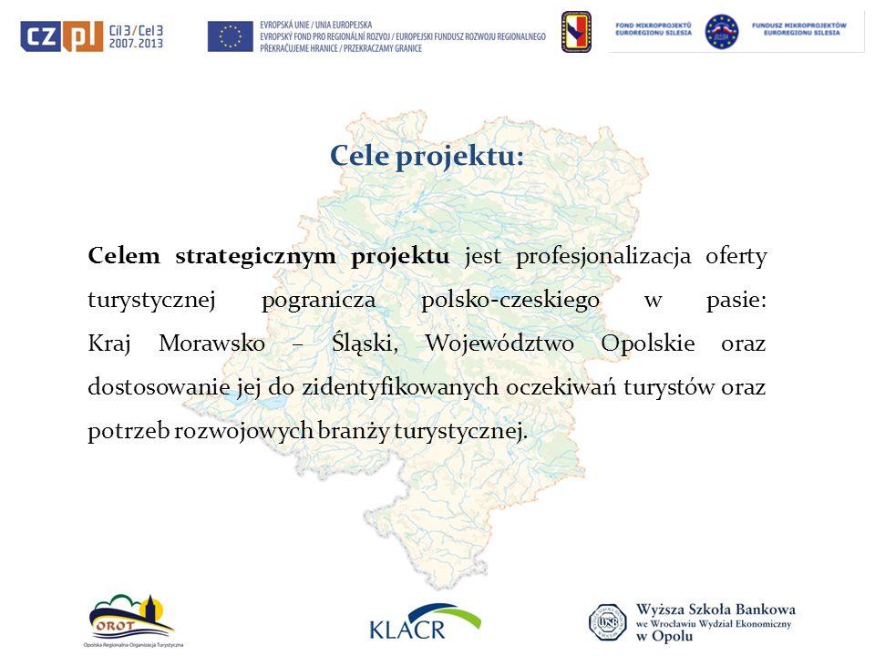 Cele projektu: Celem strategicznym projektu jest profesjonalizacja oferty turystycznej pogranicza polsko-czeskiego w pasie: Kraj Morawsko – Śląski, Wo