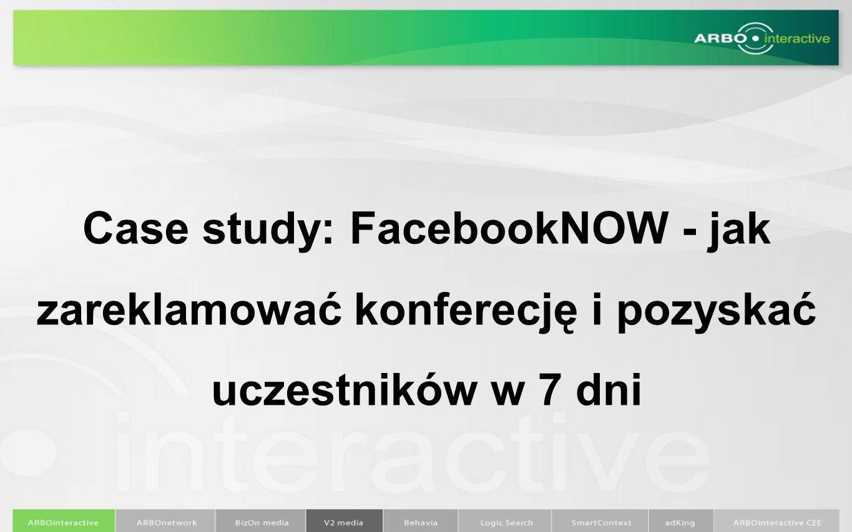 Case study: FacebookNOW - jak zareklamować konferecję i pozyskać uczestników w 7 dni