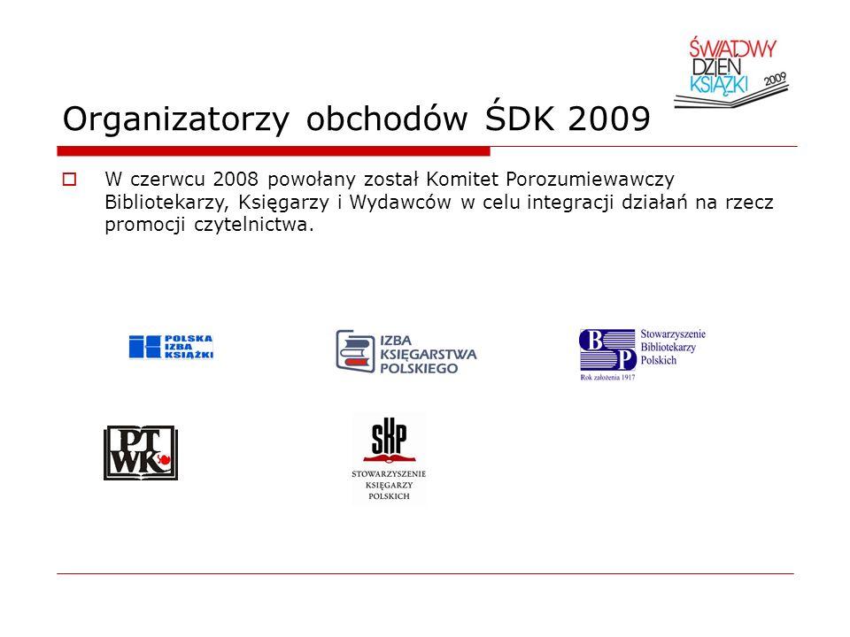 Organizatorzy obchodów ŚDK 2009 W czerwcu 2008 powołany został Komitet Porozumiewawczy Bibliotekarzy, Księgarzy i Wydawców w celu integracji działań n