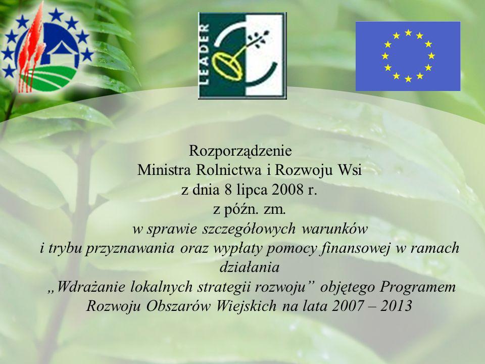 Rozporządzenie Ministra Rolnictwa i Rozwoju Wsi z dnia 8 lipca 2008 r.