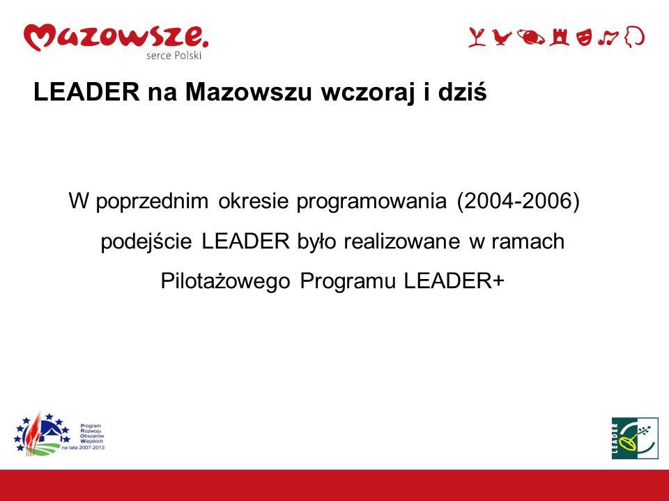 Lokalne Grupy Działania Wzrost 4 -krotny 4 LEADER na Mazowszu wczoraj i dziś