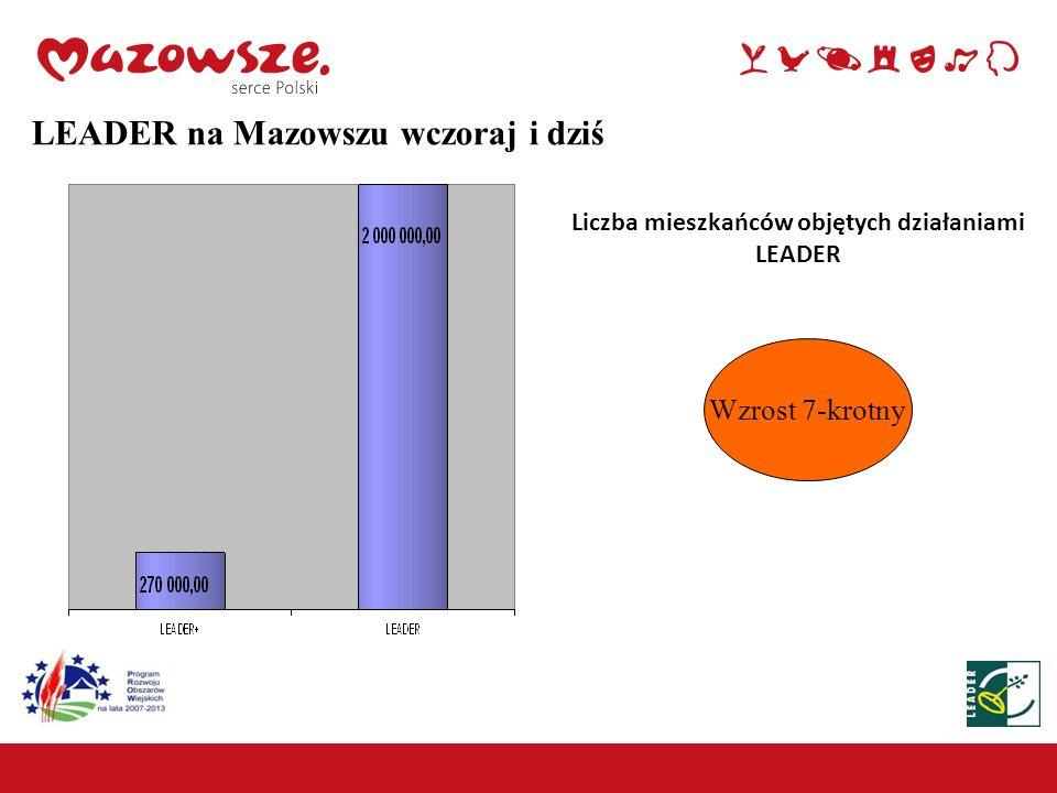 Środki (w mln zł) W poprzednim okresie programowania wydatkowano ponad 5,5 mln zł Obecnie budżet do wykorzystania przez LGD wynosi około 291,3 mln zł, z czego na działania wdrażane przez SW – 209,6 mln zł 209,6 7 LEADER na Mazowszu wczoraj i dziś
