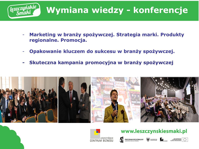 Tytuł prezentacji Wymiana wiedzy - konferencje -Marketing w branży spożywczej.