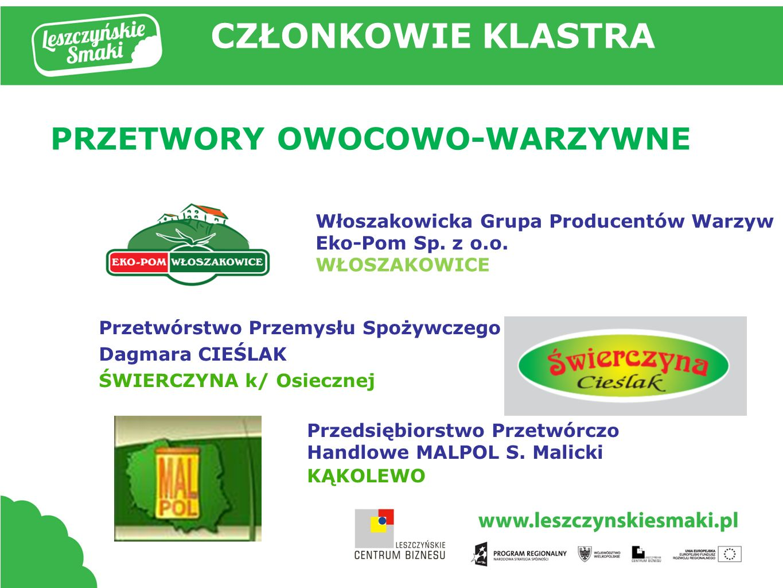 PRZETWORY OWOCOWO-WARZYWNE Przedsiębiorstwo Przetwórczo Handlowe MALPOL S.
