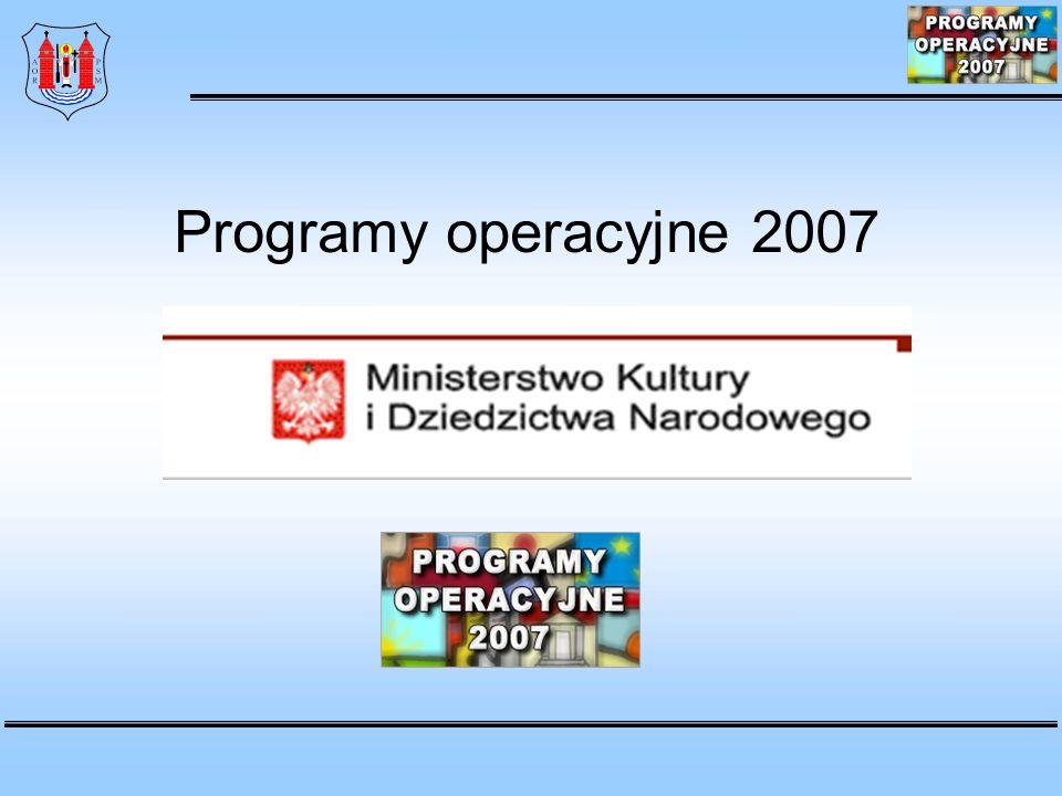 1.Promocja twórczości 2. Rozwój infrastruktury kultury i szkolnictwa artystycznego 3.