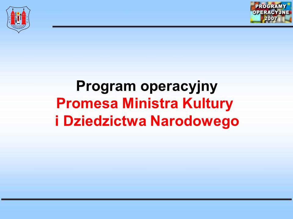Program operacyjny Promesa Ministra Kultury i Dziedzictwa Narodowego