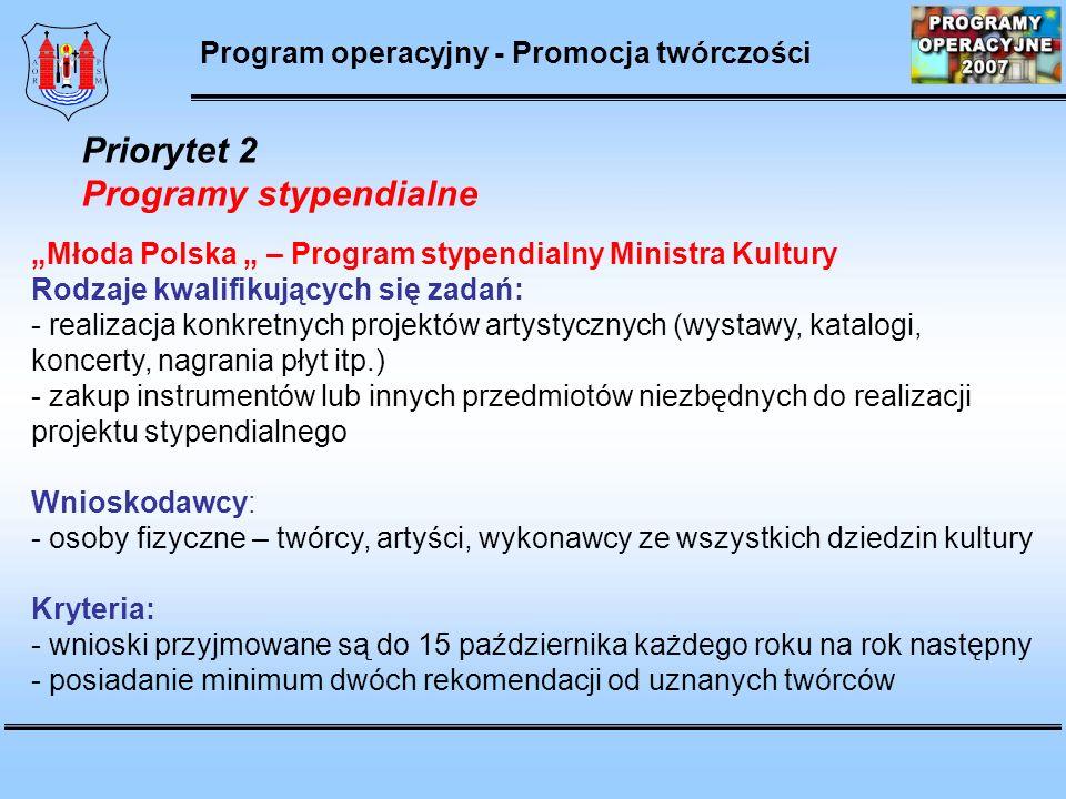 Program operacyjny Rozwój infrastruktury kultury i szkolnictwa arktycznego