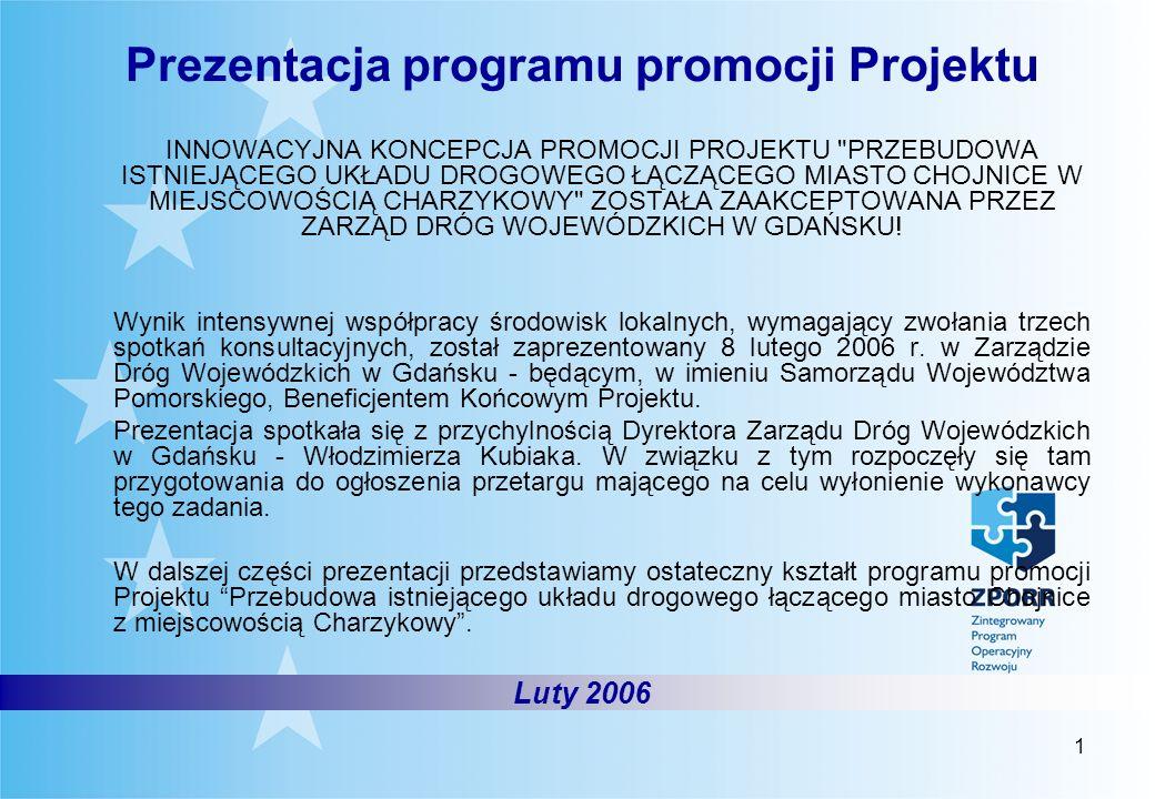 1 Luty 2006 Prezentacja programu promocji Projektu INNOWACYJNA KONCEPCJA PROMOCJI PROJEKTU