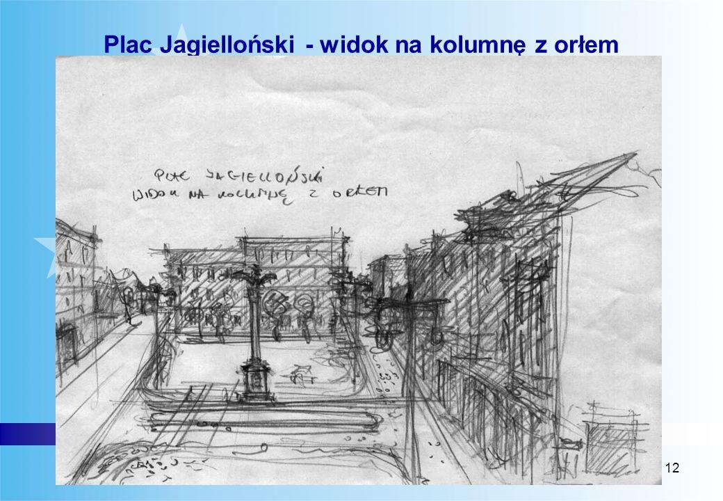 12 Luty 2006 Plac Jagielloński - widok na kolumnę z orłem
