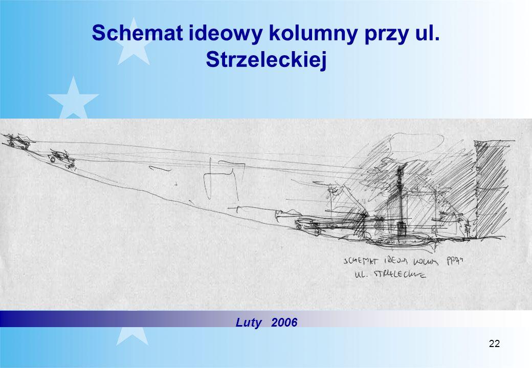 22 Schemat ideowy kolumny przy ul. Strzeleckiej Luty 2006