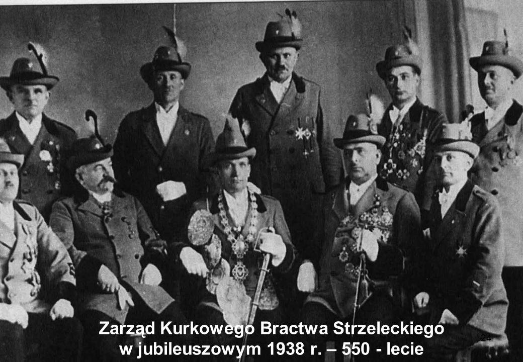 24 Zarząd Kurkowego Bractwa Strzeleckiego w jubileuszowym 1938 r. – 550 - lecie
