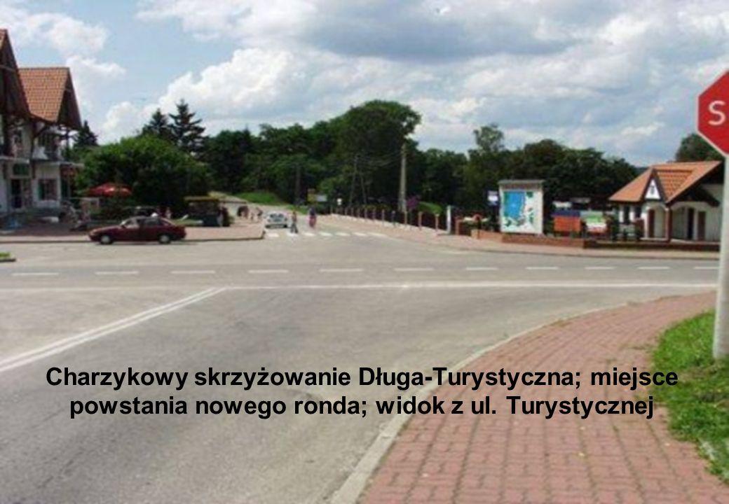 28 Luty 2006 Charzykowy skrzyżowanie Długa-Turystyczna; miejsce powstania nowego ronda; widok z ul. Turystycznej