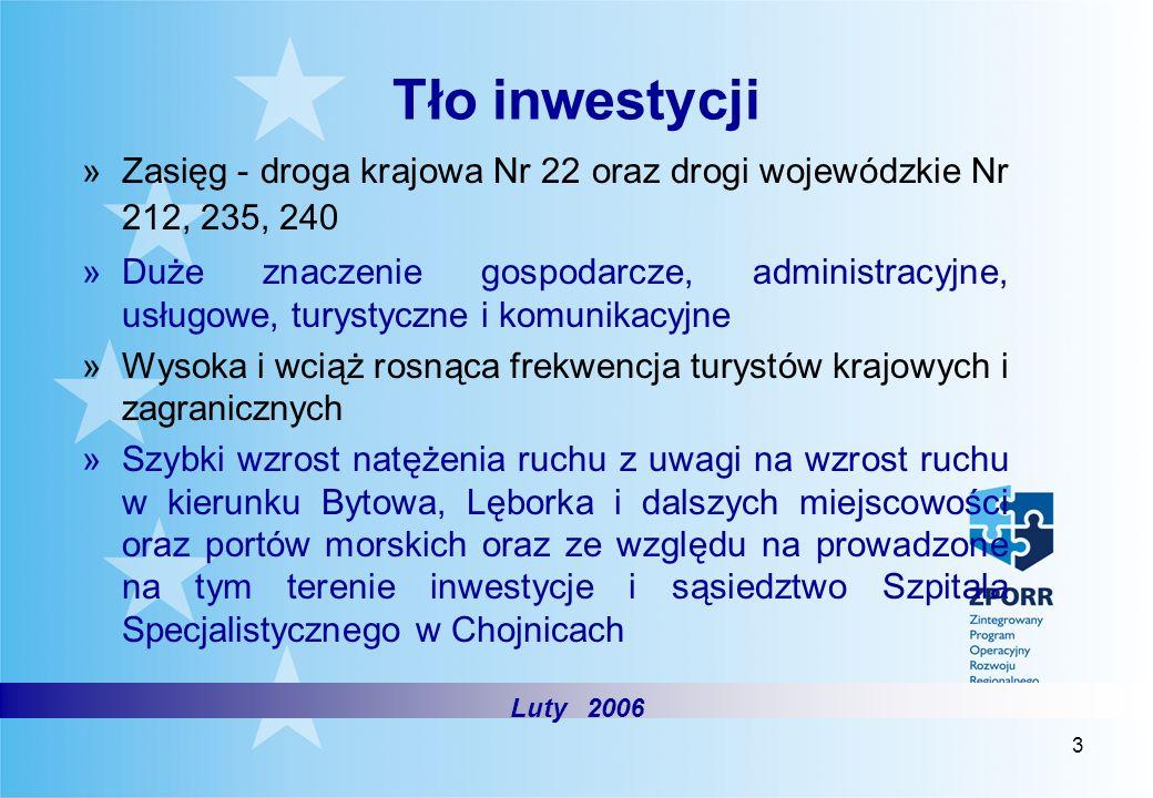 3 Tło inwestycji »Zasięg - droga krajowa Nr 22 oraz drogi wojewódzkie Nr 212, 235, 240 »Duże znaczenie gospodarcze, administracyjne, usługowe, turysty