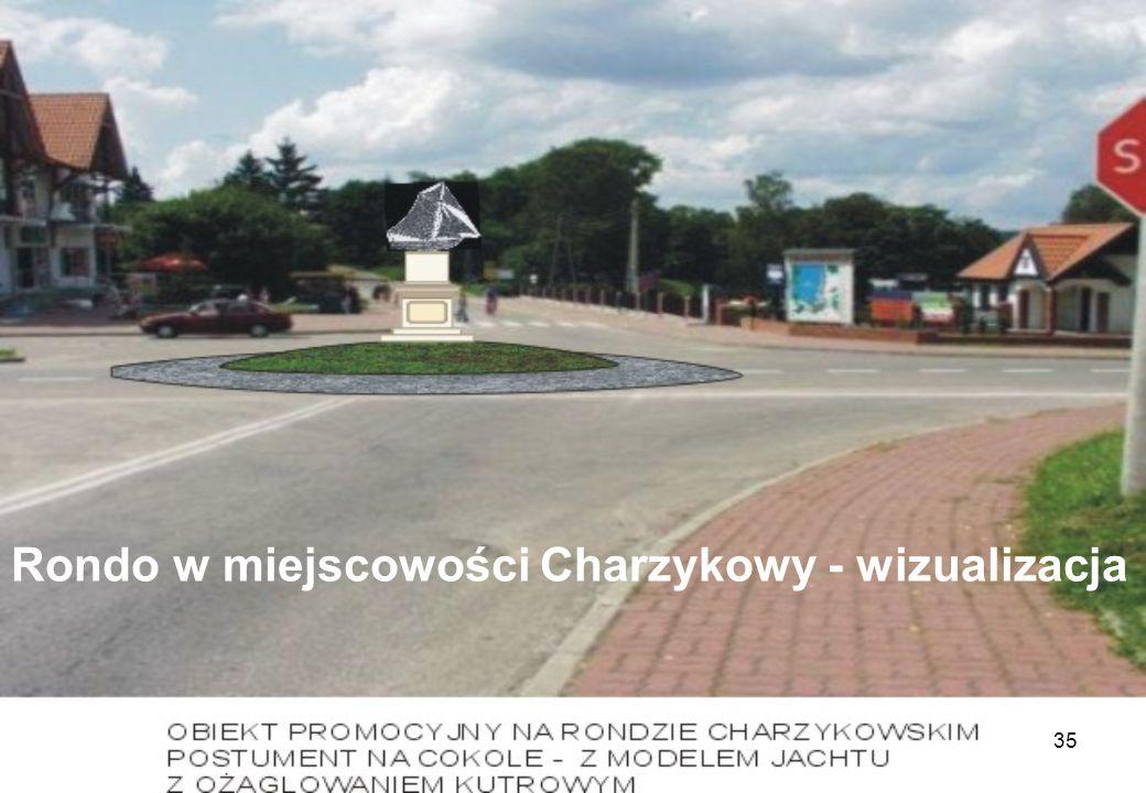 35 Rondo w miejscowości Charzykowy - wizualizacja