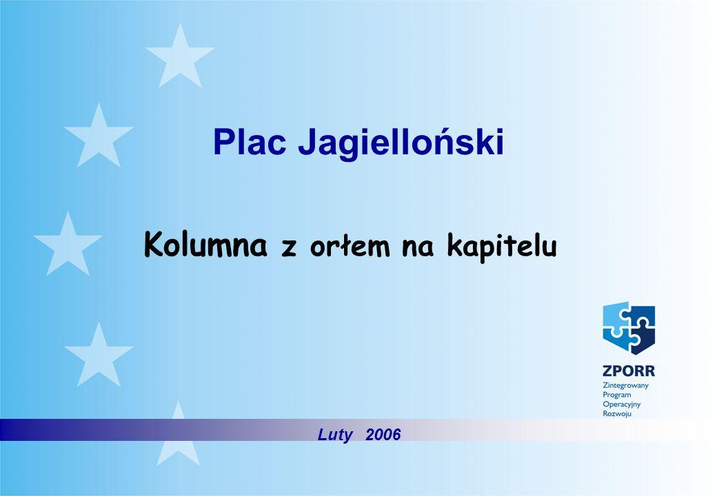 Plac Jagielloński Kolumna z orłem na kapitelu Luty 2006