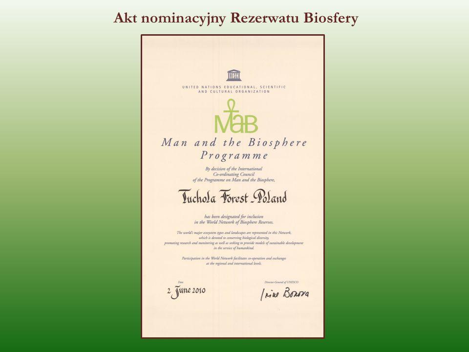 Akt nominacyjny Rezerwatu Biosfery