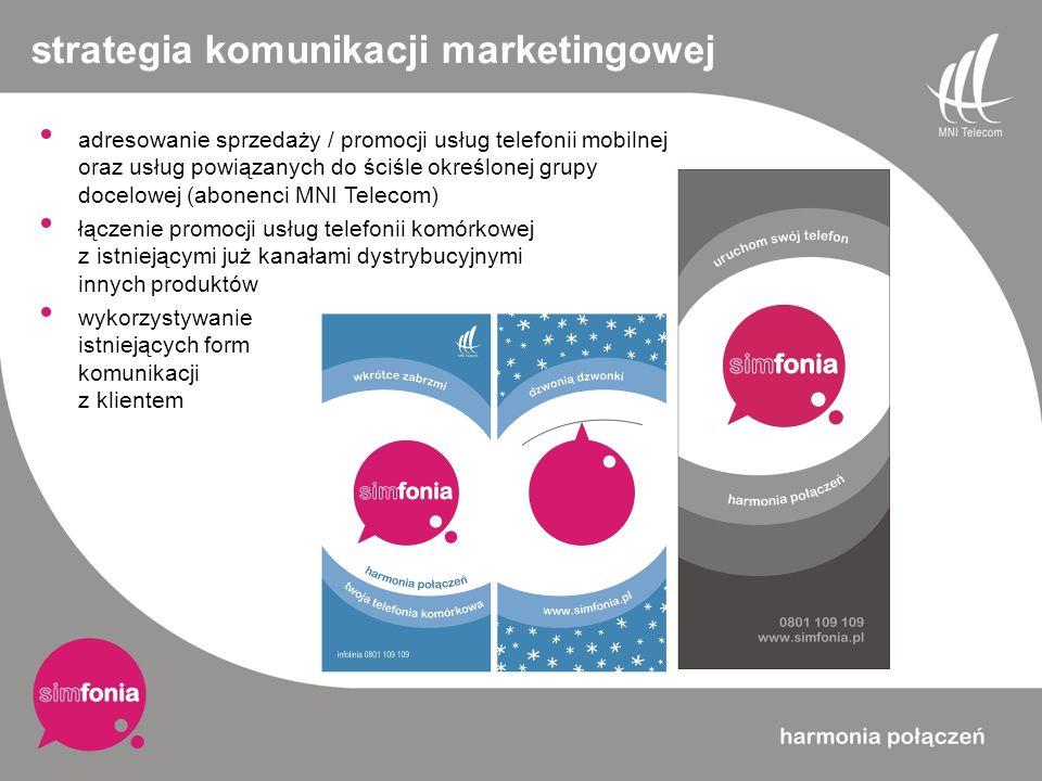 strategia komunikacji marketingowej adresowanie sprzedaży / promocji usług telefonii mobilnej oraz usług powiązanych do ściśle określonej grupy docelo